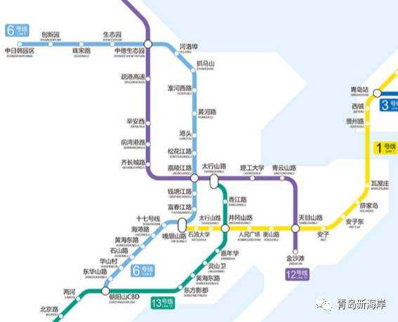 (13号线调整后的线路图)     青岛地铁13号线
