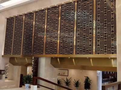 酒店不锈钢屏风 不锈钢屏风定制