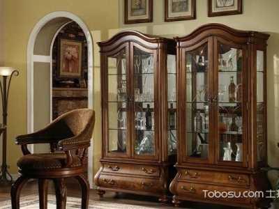 欧式展示柜图片 彰显高贵典雅的家居风情